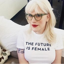 Wholesale is right shirt resale online - THE FUTURE IS FEMALE Women fashion t shirt feminist t shirt high quality casual girls top tees women rights