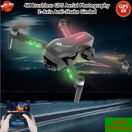 gps control rc UK - Brushless GPS Drone 1.6KM 30MINS 5G 4K Camera WiFi FPV GPS Follow Me Optical Flow Dual Mode Selfie RC Quadcopter VS JJRC X9 X6