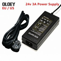 dc iron UK - Universal DC5525 AC 100v-240v to DC 24v 3A Power Supply Switching Adapter SH72 Soldering Iron LED Strips Light 72w DC5521 EU US jimi#