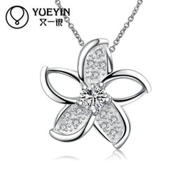 chain c UK - N078-C 2020 Fashion designed silver plated necklaces long chain plant pendant women power necklaces Jewelry