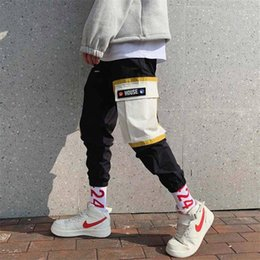 gold harem trousers Canada - Hip Hop Pants Streetwear Harajuku Joggers Men Loose Harem Pants Funny Male Casual Summer Trousers Mens Cool Sweatpants