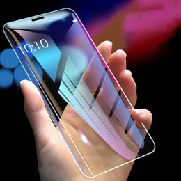 tempered glasses blu UK - 9D Tempered Glass for IPhone X Xs XR XSMax 7P 8P 7 8 High Quality Anti-Scrath Front Screen Protector HD & Blu-ray Glass Film 2 Colors