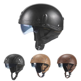 vintage helmet visor Australia - Electric Bicycle Casque Goggles Visor for Scooter Cycling Touring Vintage Helmet Half Motorcycle Helmet Open Face Accessorise
