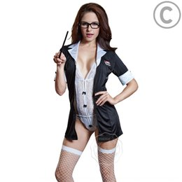 sexy business clothes Canada - az9A8 Game clothes teacher role-playing uniform business two-piece Game clothes sexy teacher role-playing sexy uniform business lace lace su
