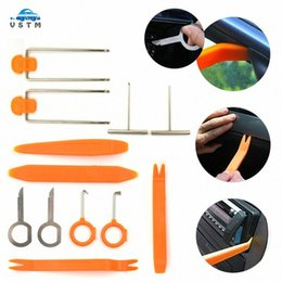 navigator car UK - 12PCS Set Auto Car Disassembly Install Navigator Pry Screw Cap Panel Removal Repair Kit Set Radio Door Trim Dash Remover Tools KKbR#