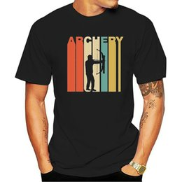 Discount man t shirt black bow Vintage Retro 1970'S Style Archery Bow And Arrow Archer T-Shirt ?Casual Print Fashion Tee Shirt