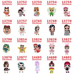 girls tiara combs UK - 60pcs lot PR13751 Cartoon Characters Girls Resins Flatback for Hair Bows Centre Hair Accessories Planar Resin Crafts DIY Decorations
