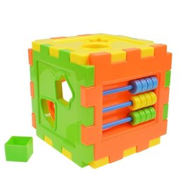 russian blocks NZ - Baby toy Plastic Shape Sorting Cube Shape Sorter kids Toy early education Russian blocks For Children Bricks Baby Gifts