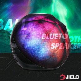 mini ball portable speaker Canada - Lamp Speakers Mini speakers Bluetooth speaker wireless mini portable Colorful lights support TF card Super bass subwoofer ball speakers