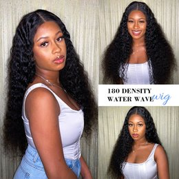 high heat resistant wigs UK - Free Shipping High Quality Black Long Kinky Curly Wigs with Baby Hair Heat Resistant Glueless Synthetic Lace Front Wigs for Black Women