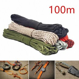 umbrella rope UK - 100m Colorful 4mm Luminous Parachute Cord 7 Core Lanyard Rope DIY Umbrella Rope Camping Survival Equipment Emergency Climbing 6wzK#