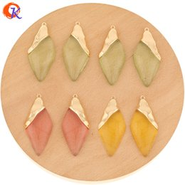 flat earrings diy UK - Cordial Design 30Pcs 23*51MM New Color Jewelry Accessories Hand Made DIY Pendant Drop Shape Earring Findings Clear Resin Charms T200730