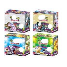 Ingrosso EX / GX / XY Giocando 324pcs Trading Cards Giochi Sun Moon Versione Italiana Edizione Anime BURNING OMBRE Poket Monsters Carte giocattoli per bambini / lot