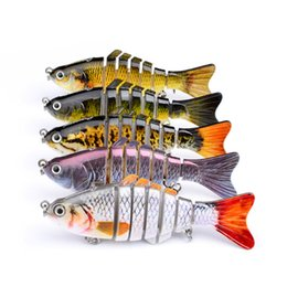 swimming jig UK - Trolling Fish Lures Swim Minnow Wobbler Multi-section Hard Bait100mm 15g Artificial Crankbait Jig Pesca Fishing tackle Lure