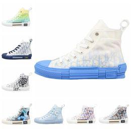 Eğik Erkek B24 Bayan Moda Boots Tasarımcı Ayakkabı 2020 Yeni Çiçekler Teknik Tuval d'or B23 Yüksek Üst Lüks Sneakers bağbozumu platformu