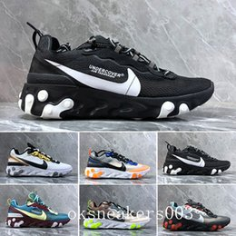 canvas sailing shoes Australia - 2019 React Element 87 Volt 55 Game Royal Taped Seams Running Shoes For Women men 55s Blue Chill Trainer 87s Sail Sports Sneakers LL-3M