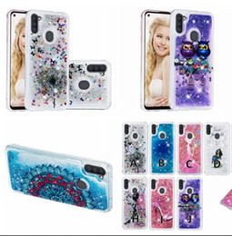 cartoon quicksand case NZ - Liquid 3D Cartoon Case For Samsung Galaxy A11 A41 S20 PLUS Ultra A51 A71 M30 A50 A70 A40 A30 Soft Glitter Quicksand Flower OWL Phone Cover