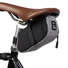 bicycle seat cushions Canada - B- SOUL bicycle small tail mini portable road car windbreak bicycle saddle bag rear seat riding cushion saddle bag accessories