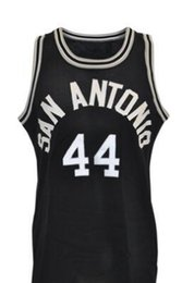 mesh long cardigan UK - Custom Men Youth women Vintage 1984 George Gervin Game-Used Road Mesh Basketball Jersey Size S-4XL or custom any name or number jersey