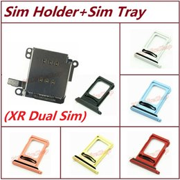 reader apple NZ - New OEM Dual Sim Card Reader Holder Tray Socket Slot with Flex+Dual Sim Tray For iPhone XR Single to Dual