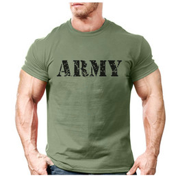 2020 Fashion ARMY Brief Logo Printed T-Shirt Männer beiläufige Normallack-Exercise Sportswear T-Shirt Trendy Male Street T-Shirt