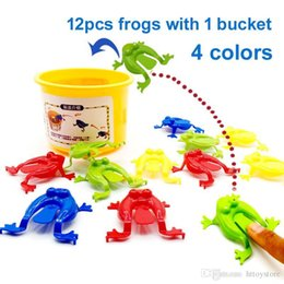 educational pc games for kids NZ - 12 Pcs Family Game Toy Jumping Frogs ABS Baby Plastic Toy Educational Action Figure Frog Kids Toys For Children Christmas Gift