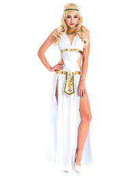 egyptian clothing Australia - Sexy Greek Goddess Costume White Egyptian Princess Dress Party Adult Warrior Clothes Halloween Cosplay Masquerade Party Dress