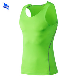 mens sleeveless tank tops Australia - Brand Clothing Compression Weightlifting Vest Mens Quick Dry Tank Tops Bodybuilding Running Sleeveless Shirt Gym Fitness Clothes