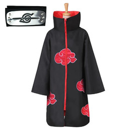 Ingrosso Anime Naruto Akatsuki Costume Cosplay Akatsuki Cloak Naruto Uchiha Itachi Capo Anime Party Costume Halloween Vendita calda