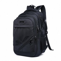 laptop backbag Canada - Mens Black School Bags Business Backpack Waterproof Large Bagpack Rucksack Back Pack Male Laptop Bag School Bags High Capacity Backbag buKT#