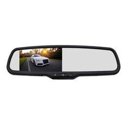 player replacement Australia - 4.3 inch HD 800X480 Car Video Player Interior Rear View Mirror Replacement Monitor with Reverse Backup Parking Camera car dvr
