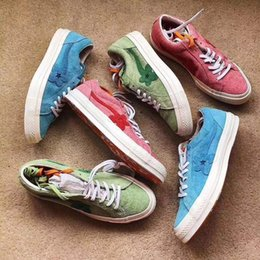 star canvas shoe for men Australia - 2020 Tyler The Creator x One Star Ox Golf Le Fleur 