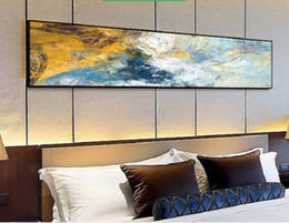2020 hot sale Bedroom bedside hanging painting model room abstract art mural modern simple hotel decoration painting on Sale