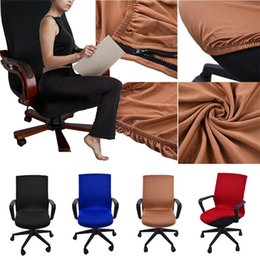 swivel bar chairs Australia - Siamese Office Chair Cover Swivel Chair Computer Armchair Protector Executive Task Slipcover Internet Bar Back Seat Cover