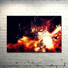fairy tail prints Australia - Fairy Tail Anime Art Silk Fabric Poster 13x20 20x30 Inch Erza Scarlet Natsu Huge Print Pictures For Living Room Decor 028