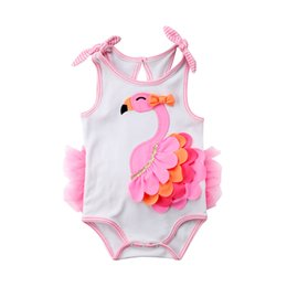 Wholesale 3d clothing girl for sale – custom New Newborn Toddler Infant Baby Girl D Flamingo Romper Jumpsuit Outfits Lace Tutu Dress Clothes Sleeveless Sunsuit