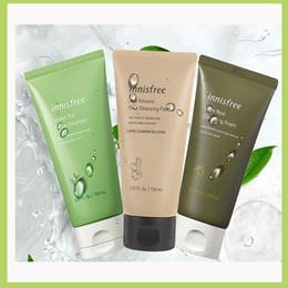 new version innisfree green tea foam cleanser innisfree jeju volcanic pore cleansing foam 150ml free shipping on Sale