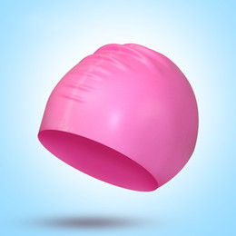 Silicone Rich Color Bathing Cap Solid Color Hat Long Hair Waterproof Head Protection Diving Good Swimming Caps 3lz E2 on Sale