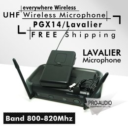 wireless clip microphone NZ - Free Shipping! PGX PGX14 WL93 UHF Professional Karaoke Wireless Microphone System with Lapel Lavalier Collar Clip Mic 800-820Mhz