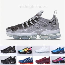 outdoor air cooler Canada - Classic tn plus running shoes men women triple black white Be True Cool Grey Lemon Lime fashion outdoor mens womens trainers sports MY7GG