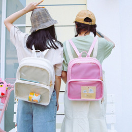 clear color backpack Australia - Summer Clear Transparent Women Backpacks PVC Jelly Color Student School Bags For Teenage Girls Fashion Ita Bags Travel Backpack Backpa V1om#