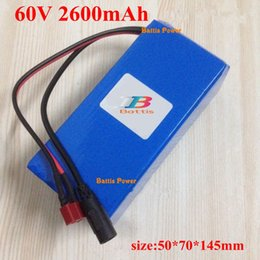electric skateboard battery UK - 60v 2600mah lithium battery 2.6ah 18650 cell pack with BMS XT60 plug for electric skateboard scooter