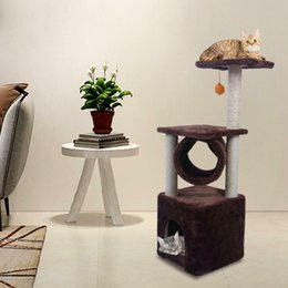 Wholesale cat towers for sale – custom Black Friday quot Cat Tree Bed Furniture Scratch Cat Tower Post Condo House Brown