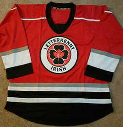 Wholesale Custom Mens Letterkenny Irish Shamrocks Hockey Jerseys 69 Shoresy 72 Jonesy 68 Reilly Stitched Customized S-6XL