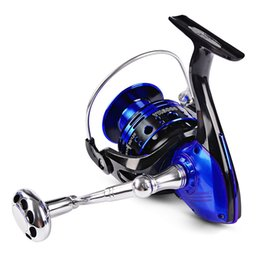 Discount top power metal New Top Sell All Metal Fishing Reel YK 3000-6000 Series Spinning Reel Aluminum Spinning Fishing Lure Reel Drag Power Car