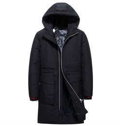 canadian jackets UK - 9UwZJ Canadian mid-length thickened men's mid-length Korean style trendy stand collar hooded style overcome jacket down jacketHoodie down ja