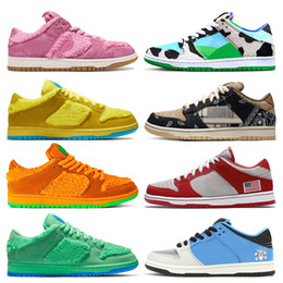 mens leather running shoes Australia - Wholesale top quality 2020 trainers dunks shoes women mens running shoes pink yellow orange green bears chunky dunky trainers sneakers