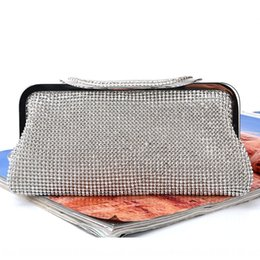 preppy clothing women UK - Diamond clothes clothes hand evening pack handmade rhinestone evening bag women's banquet bag handbag