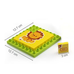 cognitive blocks NZ - 176pcs Children early education cognitive building block Animal traffic Jigsaw Puzzle Toy for kids intelligence creative learning 01