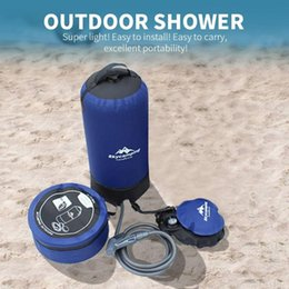 outdoor bath bag UK - with Foot Pump 11L Solar Energy Shower Bag Outdoor Shower Bag Heated Fold Hiking Field Survival Bath Hot Water Camp